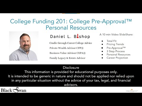 College Funding 201: College Pre-Approval™ Personal Resources