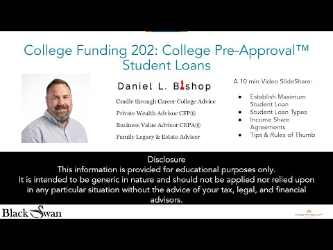 College Funding 202: College Pre-Approval™ Student Loans